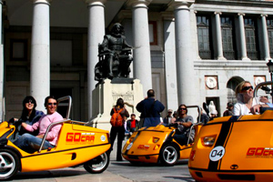Tour Madrid on a Go-kart